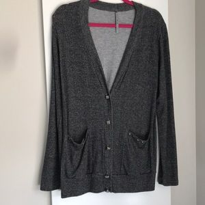 Grey stud cardigan